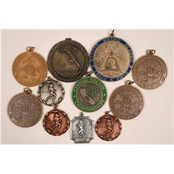 A Variety of Fresno Track Medals  (117166)