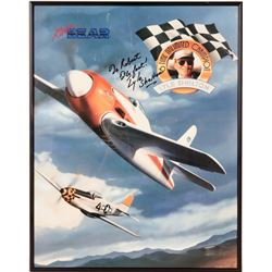 Lyle Shelton Autographed Print From the Reno Air Races  (109503)