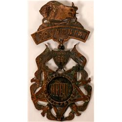 31st Encampment Civil War 1897 Buffalo Chapter Souvenir Badge  (118195)