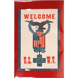 Banner Welcoming U.S. Veterans of Spanish American War  (59609)
