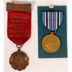 WW II Naval service medal  (110523)