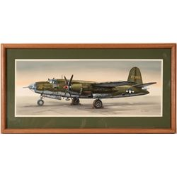 Hell Cat B-26 Bomber Drawing by Don Greer  (109509)