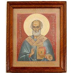 Russian Saint Nicholas Framed Print  (85835)