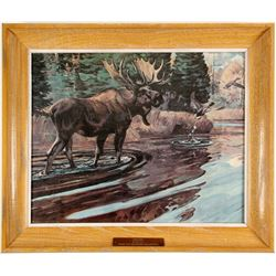 """ Moose""  Print/ By Bob Kuhn .  (89565)"