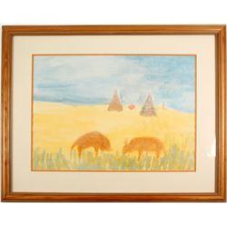 Folk Art Painting by Shem  (57759)