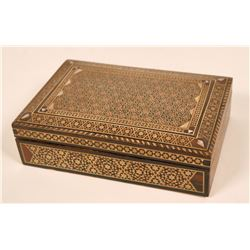 Finely Inlaid Artisan Wood Box  (108796)