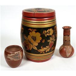 Russian Influence Wood Barrel  (119644)