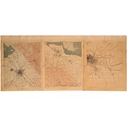 USGS California Topography Maps (Lot of 3)  (117748)