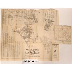 Two Maps Early 1900s Los Angeles, Sequoia and General Grant National Parks  (118865)