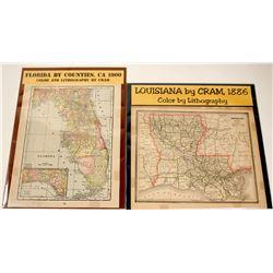 Florida by Counties & Louisiana Maps (2)  (62069)