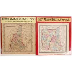 Maps of New Hampshire & Vermont (2)  (72011)