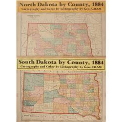 North and South Dakota Maps (2)  (63232)