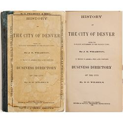 Senator H.M. Teller's Personal Copy of a Reprinted 1866 Denver Directory  (89359)