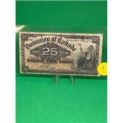 1900 DOMINION OF CANADA SHINPLASTER