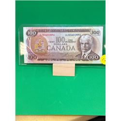 1975 BANK OF CANADA $100 NOTE