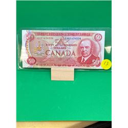 1975 BANK OF CANADA $50 NOTE
