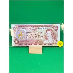 1974 BANK OF CANADA $2 NOTE..