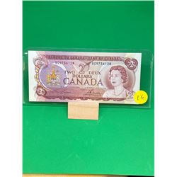 1974 BANK OF CANADA $2 NOTE.MODIFIED TINT.RARE!!
