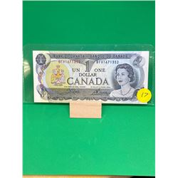 1973 BANK OF CANADA $1 NOTES..4 IN SEQUENCE! BFH PREFIX