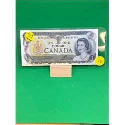 1973 BANK OF CANADA $1 NOTES.RARE (ALM) PREFIX ..3 NOTES IN SEQUENCE