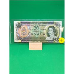 1969 BANK OF CANADA $20 REPLACEMENT NOTE.