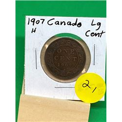 1907H CANADA LARGE CENT.KEY DATE..