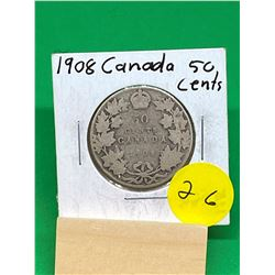 1908 CANADA 50 CENTS..