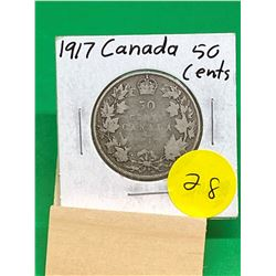 1917 CANADA 50 CENTS