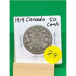 1919 CANADA 50 CENTS