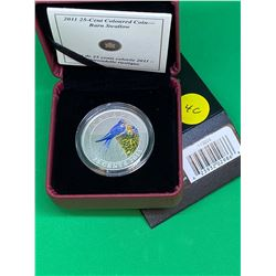 2011 CANADA COLOURED 25 CENT COIN( BARN SWALLOW)