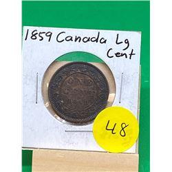 1859 CANADA LARGE CENT.NICE GRADE
