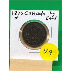1876H CANADA LARGE CENT.