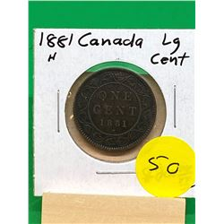 1881H CANADA LARGE CENT.