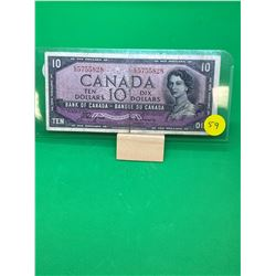 1954 (DEVILS FACE) BANK OF CANADA $10 NOTE