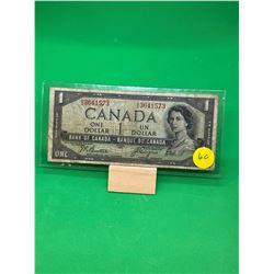 1954 (DEVILS FACE) BANK OF CANADA $1 NOTE