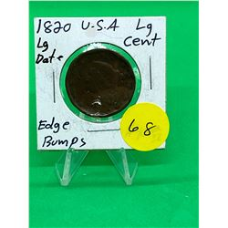 1820 USA (LG DATE) ONE CENT