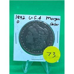 1892 O USA MORGAN DOLLAR