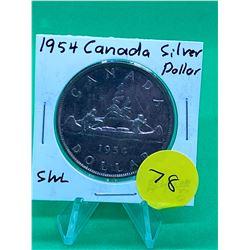 1954 (SWL) CANADA SILVER DOLLAR