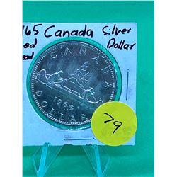 1965 (MED BEADS) CANADA SILVER DOLLAR