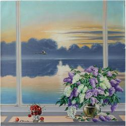 "Alexander Borewko- Original Oil on Canvas ""Ocean View"""