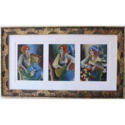 "Patricia Govezensky- Original Pastel Color on Paper ""Winter Time"""