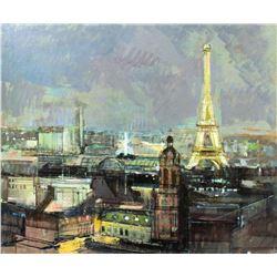 """Alex Zwarenstein """"Paris by Night"""" Giclee on Canvas"""