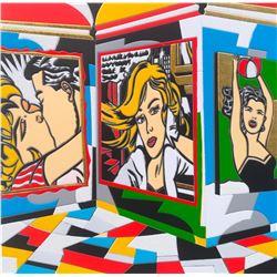 """Ugo Nespolo """"WOMEN'S TIME"""" Original Serigraph"""