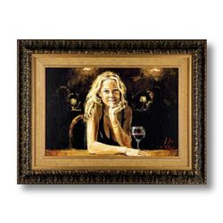 """Fabian Perez, """"First Blonde"""" Framed Hand Textured Limited Edition Giclee on Board. Hand Signed and N"""