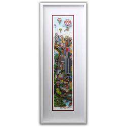 "Charles Fazzino- 3D Construction Silkscreen Serigraph ""A DEEP DISH PIE…IN CHI-TOWN"""