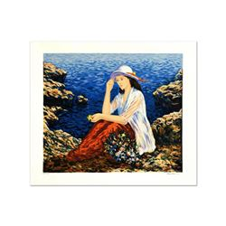 """Igor Semeko, """"Lady by the Cliffside"""" Limited Edition Serigraph, Numbered and Hand Signed."""