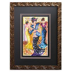 "Patricia Govezensky- Original Watercolor ""In Action"""