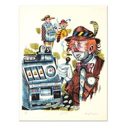 """George Crionas (1925-2004), """"Jackpot"""" Hand Embellished Limited Edition Lithograph, Numbered and Hand"""