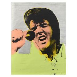 "Steve Kaufman (1960-2010), ""Elvis Vegas"" Hand Painted Limited Edition Silkscreen on Canvas from an H"