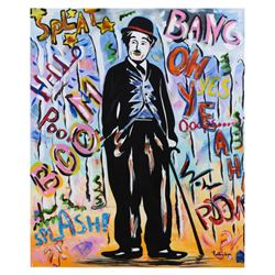 "Nastya Rovenskaya- Mixed Media ""Chaplin"""